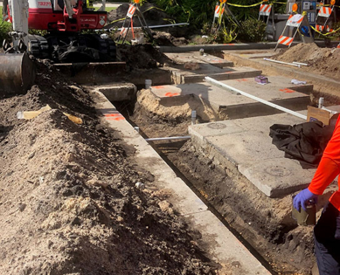 Trenching/Piping of RMD System