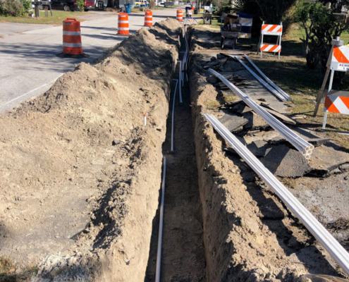 Trenching / Piping Install